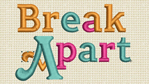 Break a Part Embrdoidery Font